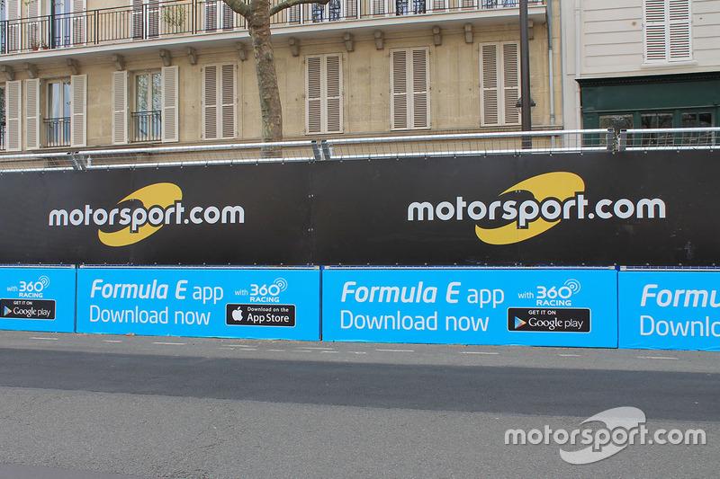 Sponsorship Motorsport.com di ePrix Formula E Paris, Perancis