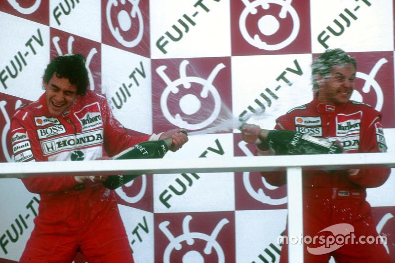 Podyum: 1. Gerhard Berger, McLaren, 2. ve Dünya Şampiyonu Ayrton Senna, McLaren