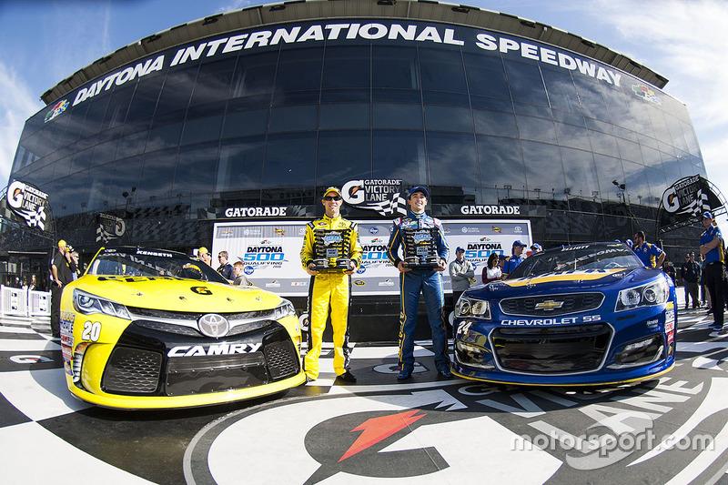#3: Chase Elliott (Hendrick-Chevrolet) und Matt Kenseth (Gibbs-Toyota)