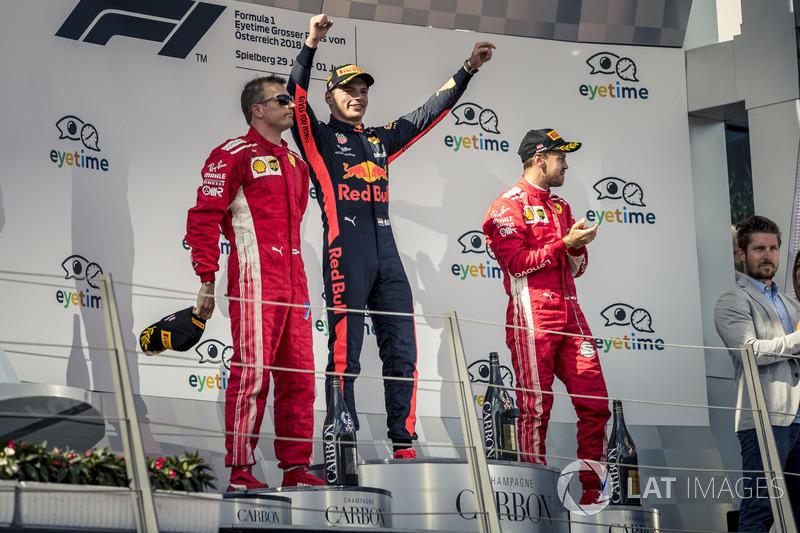 GP de Austria: 1º Verstappen, 2º Raikkonen, 3º Vettel