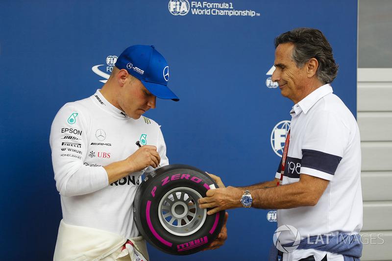 Poleman: Valtteri Bottas, Mercedes AMG F1 y Nelson Piquet Sr