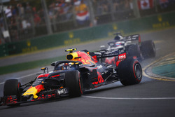 Max Verstappen, Red Bull Racing RB14 Tag Heuer, spins in the path of Romain Grosjean, Haas F1 Team V