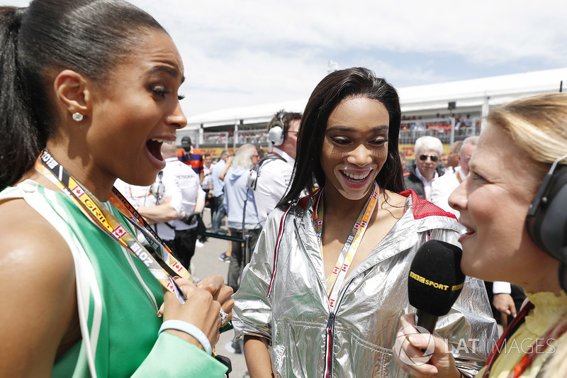 Singer Ciara and Model Winnie Harlow on the grid