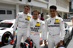 Top3 after qualifying, Pole position for Lucas Auer, Mercedes-AMG Team HWA, Paul Di Resta, Mercedes-