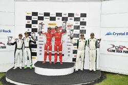 #61 R. Ferri Motorsport Ferrari 488 GT3: Toni Vilander, Miguel Molina, #3 K-PAX Racing Bentley Continental GT3: Rodrigo Baptista, Maxime Soulet, #9 K-PAX Racing Bentley Continental GT3: Alvaro Parente, Andy Soucek