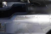 Tommy Hilfiger logo on the Mercedes AMG F1