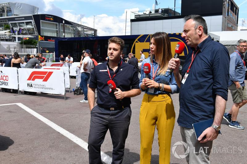 Davide Valsecchi, Sky Italia and Federica Masolin, Sky Italia Presenter