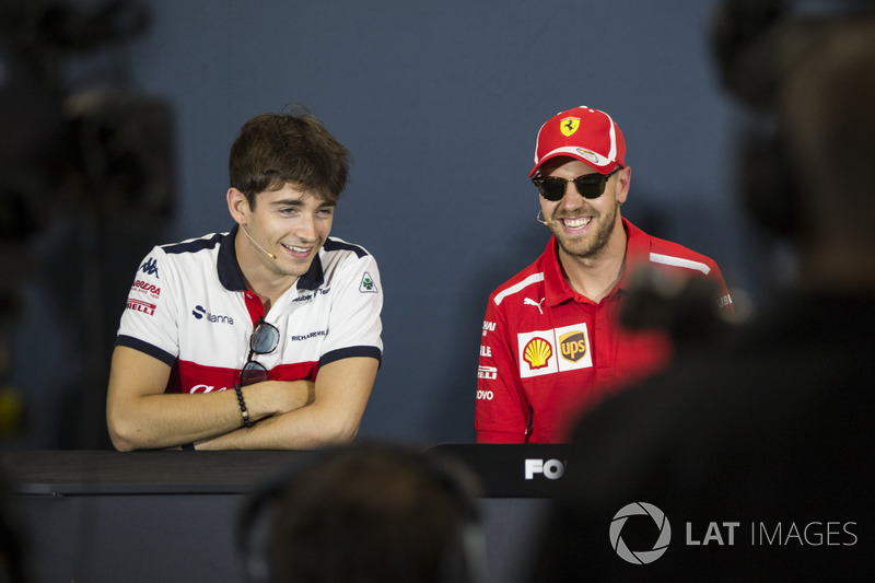 Charles Leclerc, Sauber, Sebastian Vettel, Ferrari