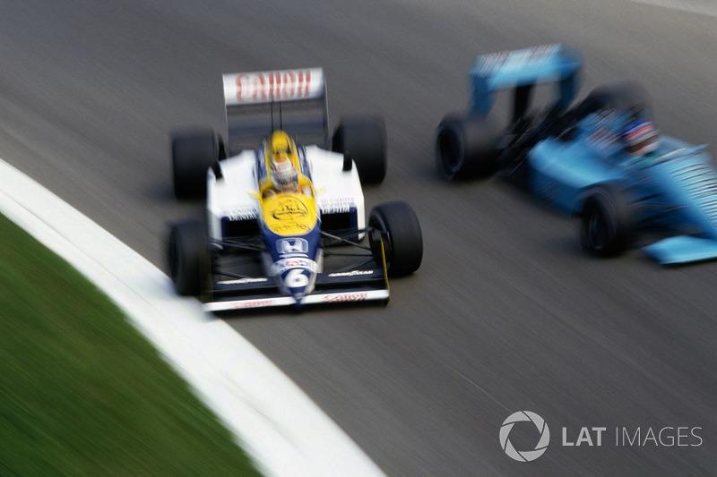 Sorte de Nelson Piquet, que abandonou as duas corridas com problemas mecânicos.