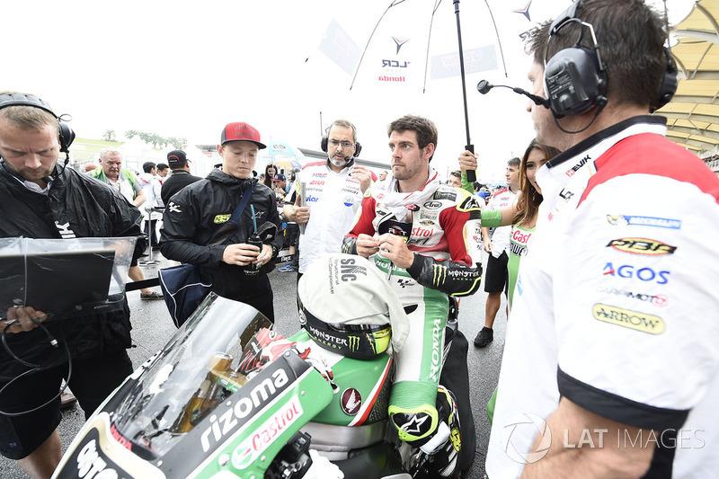 Cal Crutchlow, Team LCR Honda, en la parrilla antes del inicio del GP de Malasia