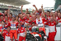 1. Andrea Dovizioso, Ducati Team; 2. Jorge Lorenzo, Ducati Team