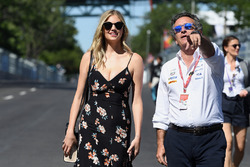 Model Kate Upton with Alejandro Agag, Formula E CEO, CEO, Formula E