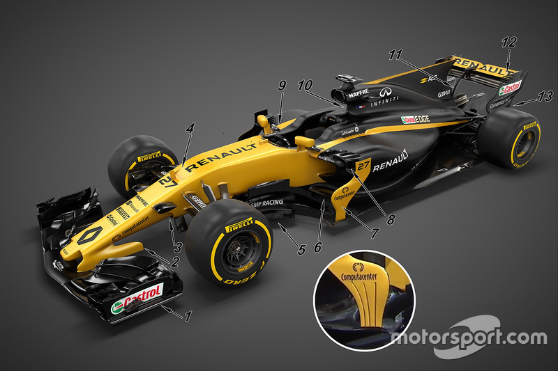 Деталь Renault Sport F1 Team RS17