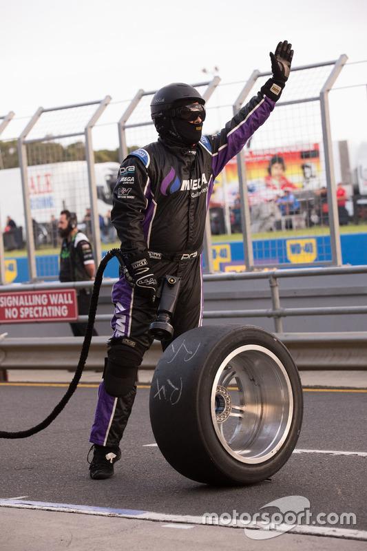 Prodrive Racing Australia Ford mechanic at work