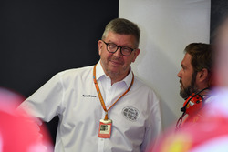Ross Brawn, Formula One Managing Director of Motorsports and Gino Rosato, Ferrari