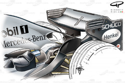 McLaren MP4-20 2005 rear wing