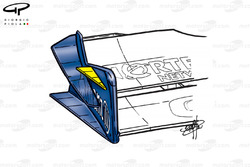 Williams FW23 front wing (additional endplate canard - yellow)