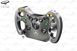McLaren MP4-24 2009 steering wheel