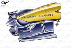 Renault R28 2008 front wing ballast