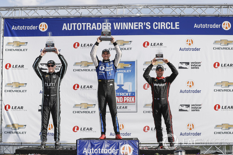 Podium: 1. Graham Rahal, Rahal Letterman Lanigan Racing, Honda; 2. Josef Newgarden, Team Penske, Chevrolet; 3. Will Power, Team Penske, Chevrolet