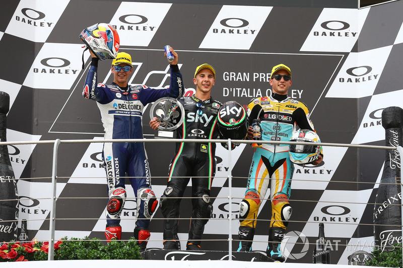Podium: 1. Andrea Migno, Sky Racing Team VR46; 2. Fabio Di Giannantonio, Del Conca Gresini Racing Mo
