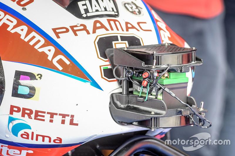 Danilo Petrucci'nin motorunun detayı, Pramac Racing