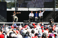 Ross Brawn, Managing Director of Motorsports, FOM, Chase Carey, Chairman, Formula One, on the F1 stage