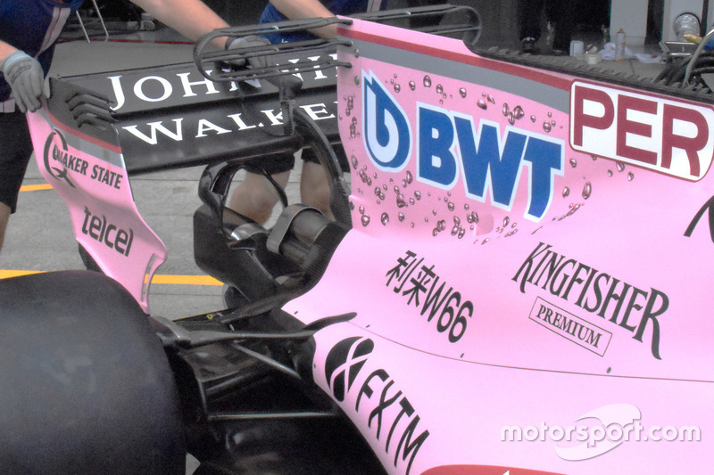 Force India VJM10: Heckflügel und Monkey-Seat
