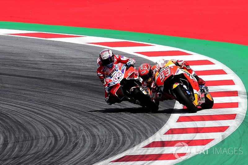 6. 6. Dovizioso se impone a Márquez en Austria en un mano a mano hasta la última curva