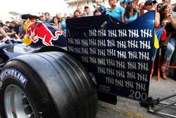 David Coulthard, Red Bull Racing, feiert seinen 200. Grand Prix