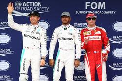 Нико Росберг, Mercedes AMG F1; Льюис Хэмилтон, Mercedes AMG F1; Кими Райкконен, Ferrari