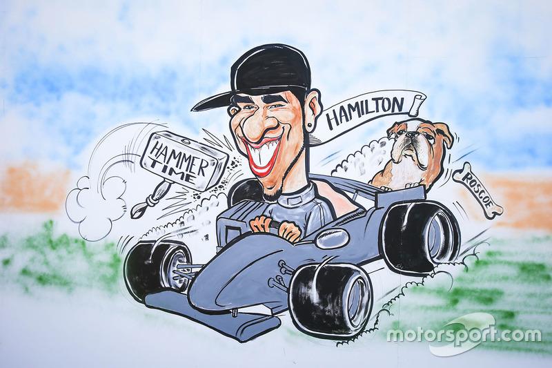 """Gran Premio de España: una caricatura sobre """"Hammer Time""""."""
