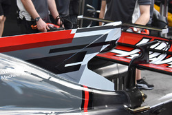 Haas F1 Team VF-17 T-wing detail
