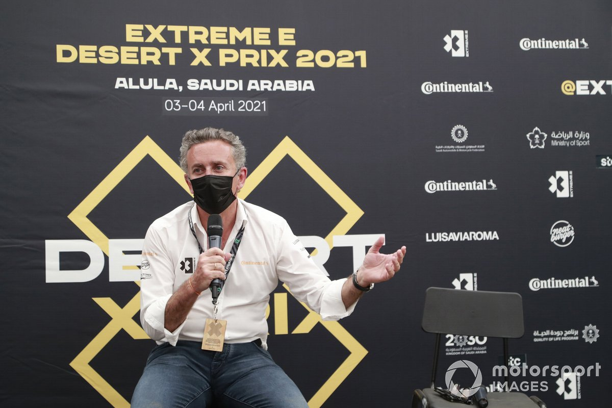 Alejandro Agag, CEO, Extreme E, in the press conference