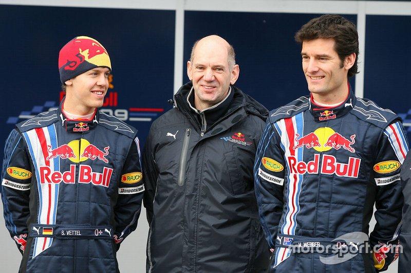 Sebastian Vettel, Red Bull racing, Mark Webber, Red Bull Racing con Adrian Newey