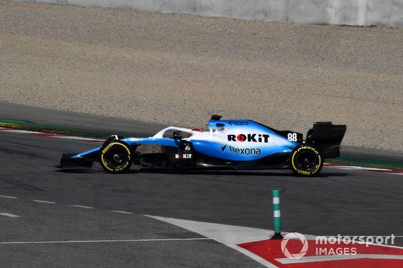 Trompo de Robert Kubica, Williams FW42
