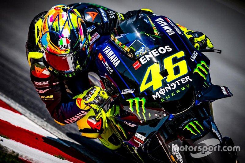 Valentino Rossi, Yamaha Factory Racing, helmet design