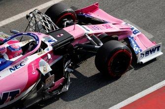 Lance Stroll, SportPesa Racing Point F1 Team RP19, con dei sensori aerodinamici
