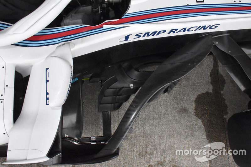 Williams FW41 bargeboards