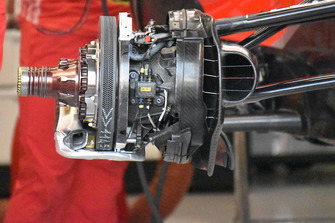 Ferrari brake assembly technical detail