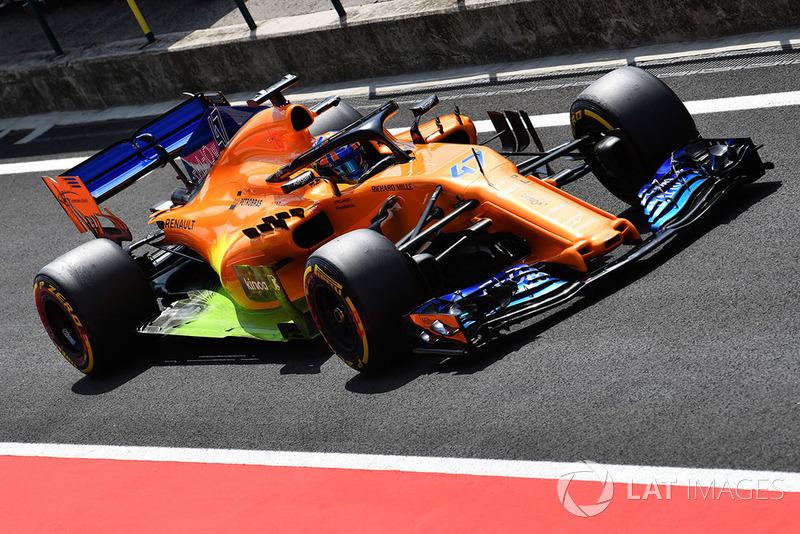 Lando Norris, McLaren MCL33 avec de la peinture aéro flow-viz