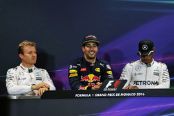 Press Conference: polesitter Daniel Ricciardo, Red Bull Racing, second place Nico Rosberg, Mercedes AMG F1 Team, third place Lewis Hamilton, Mercedes AMG F1 Team
