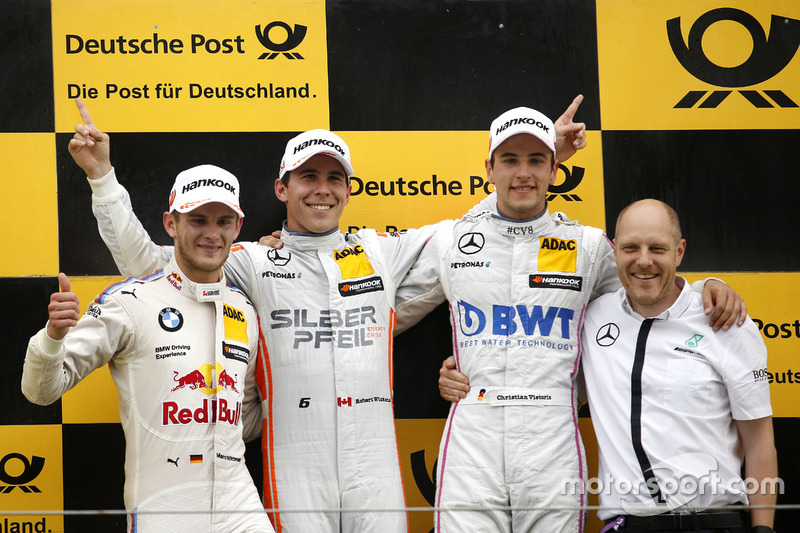 Podium: Race winner Robert Wickens, Mercedes-AMG Team HWA, Mercedes-AMG C63 DTM; second place Marco Wittmann, BMW Team RMG, BMW M4 DTM; third place Christian Vietoris, Mercedes-AMG Team Mücke, Mercedes-AMG C63 DTM