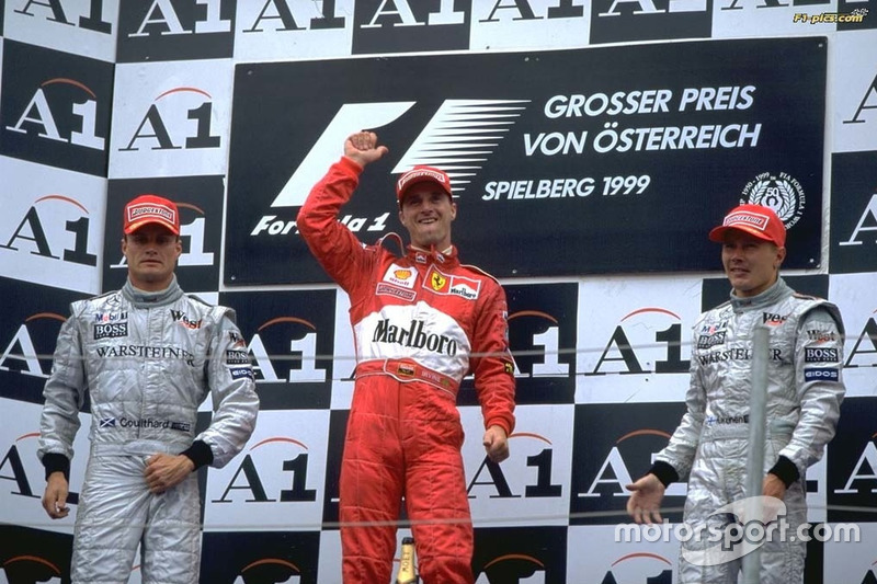 1999: 1.Irvine, 2. Coulthard y 3.Hakkinen