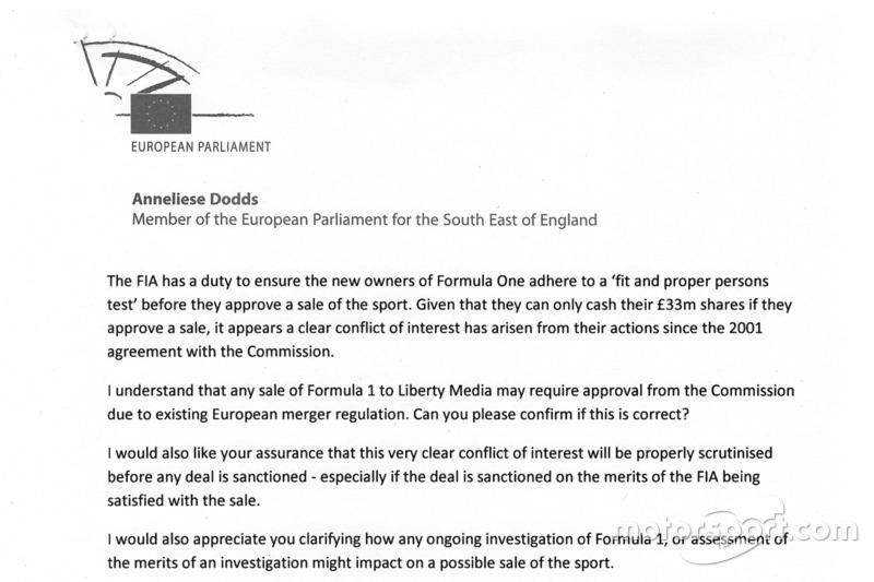 Anneliese Dodds carta a la Comisaria Europea de competencia - parte 3