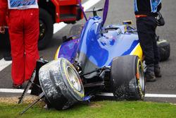 Unfall im 3. Training: Marcus Ericsson, Sauber C35