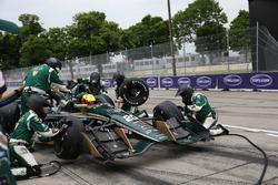 Spencer Pigot, Ed Carpenter Racing Chevrolet pit
