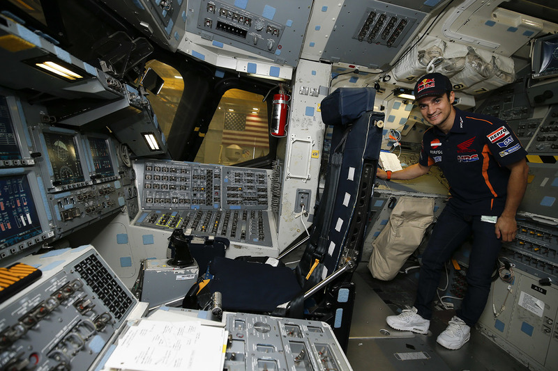 Dani Pedrosa, Repsol Honda Team durante la visita al NASA Johnson Space Center