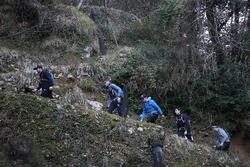 Philipp Eng,  Marco Wittmann, Augusto Farfus, Bruno Spengler e Joel Eriksson, fanno escursionismo