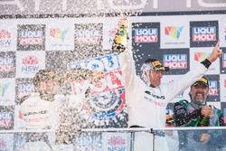 Podium second place Kenny Habul, Mercedes-AMG Team SunEnergy1 Racing celebrate